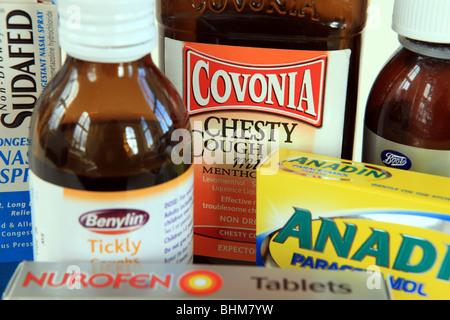 Cold & Flu remedies - Stock Photo