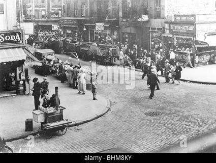 Street scene, USA, 1920s. Artist: Unknown - Stock Photo