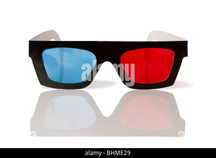 Three Dimensional viewing movie Glasses 3D 3-D - Stock Photo