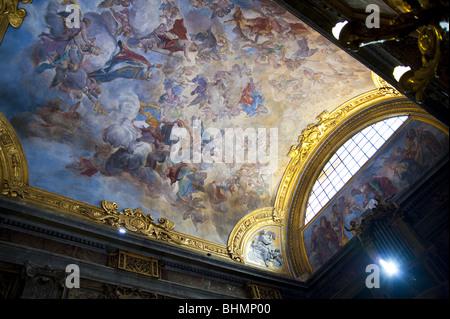 Interior Basilica Di San Silvestro in Capite, Piazza di San Silvestro, Rome, Italy - Stock Photo