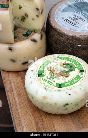 Busti Pecorino cheese production in the province of Pisa, Tuscany Italy - Stock Photo