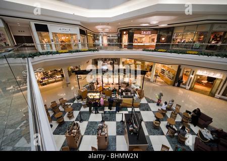 Starbucks Coffee Corner inside the Cherry Creek Mall Shopping Center in Denver Colorado CO US USA - Stock Photo