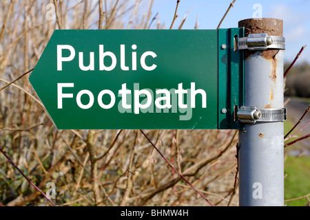 Public Footpath Sign - Stock Photo