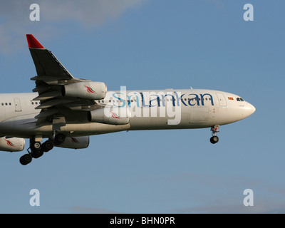 SriLankan Airlines Airbus A340-300 - Stock Photo