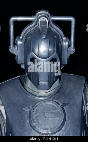 a cyberman in a Dr.Who exhibition at Lands End, Cornwall, UK - Stock Photo