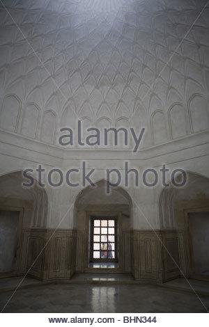 Taj Mahal interior ante room - Agra, Uttar Pradesh, India - Stock Photo