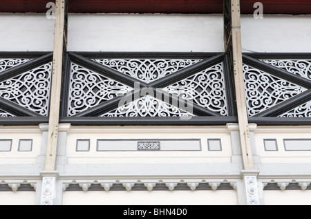 Decorative ironwork on Paddington station, London, England, UK - Stock Photo