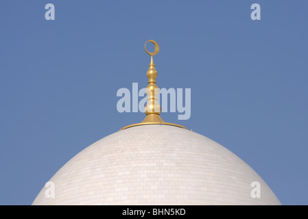 Cupola of the Sheikh Zayed Mosque in Abu Dhabi, UAE - Stock Photo