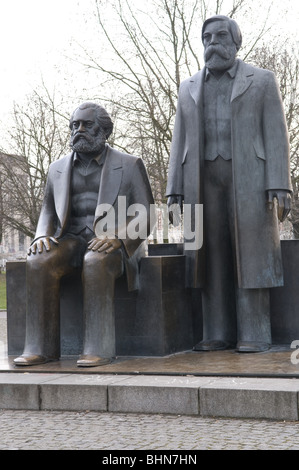 geography / travel, Germany, Berlin, monuments, Marx-Engels Monument, sculpture, Additional-Rights-Clearance-Info - Stock Photo