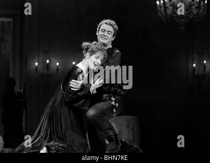Behrens, Hildegard, 9.2.1937 - 18.8.2009, German oper singer, half length, with James King, scene from the opera - Stock Photo