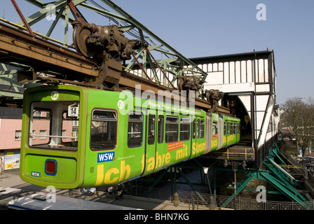 geography / travel, Germany, North Rhine-Westphalia, Bergisches Land, Wuppertal, suspension  railway, Additional - Stock Photo