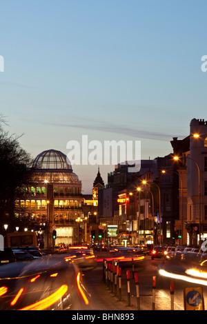 Dublin at night. Ireland. - Stock Photo