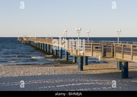 geography / travel, Germany, Mecklenburg-Western Pomerania, Ruegen, seaside resort Binz, pier, Additional-Rights - Stock Photo