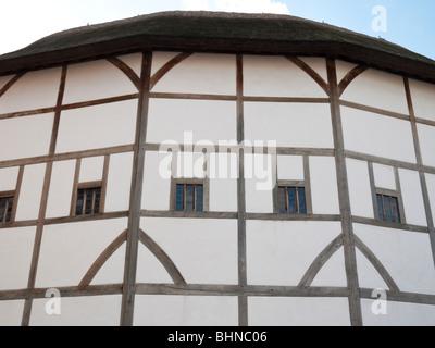Shakespeare's Globe Theatre, Bankside, Southwark, London, England UK - Stock Photo