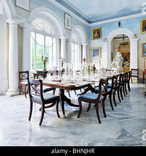 Summer dining room, Casa Rocca Piccola - Stock Photo