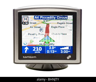 GPS sat nav device - Stock Photo