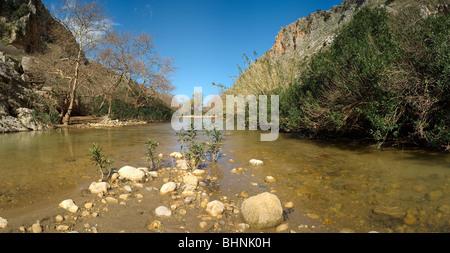 Petres river Rethymnon, Crete, Greece - Stock Photo