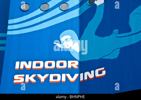 Skyventure Orlando indoor sky diving sign I-Drive International Drive orlando fl florida - Stock Photo