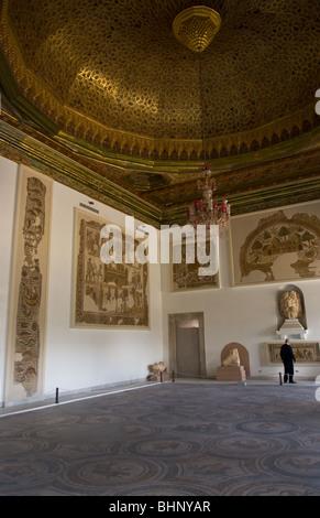 Roman room 3rd Century in Bardo Museum in Tunis Tunisia Northern Africa  - Stock Photo