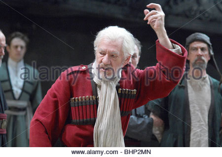 King Lear by William Shakespeare  With Ian McKellen as Lear - Stock Photo