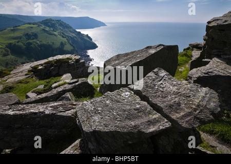 View from Castle Rock, The Valley of Rocks, near Lynton, Devon