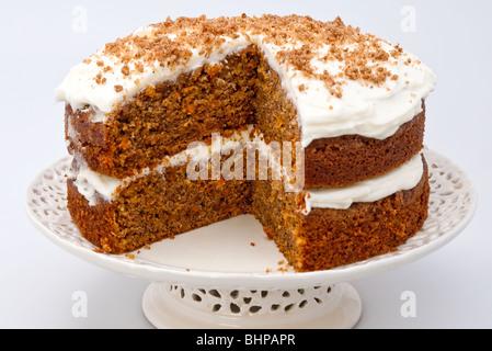 homemade organic carrot cake - Stock Photo