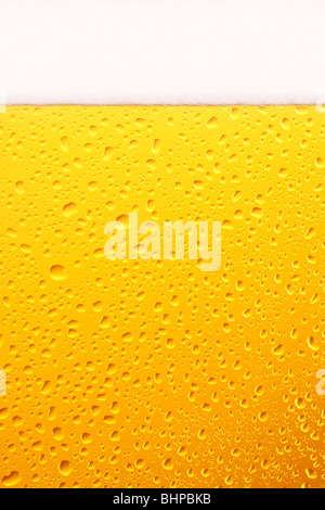 Beer Glass, Close Up. - Stock Photo