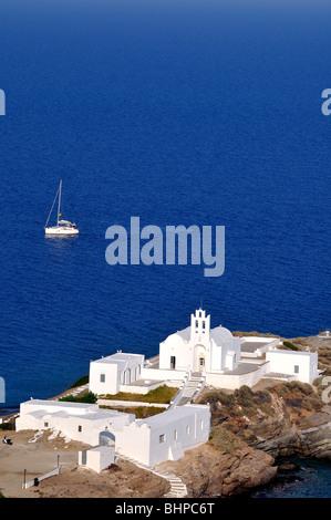 Chrisopigi monastery, Sifnos island, Greece - Stock Photo