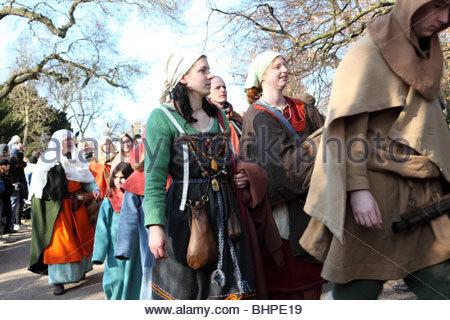 Jorvik Viking Festival 2010 York North Yorkshire England - Stock Photo
