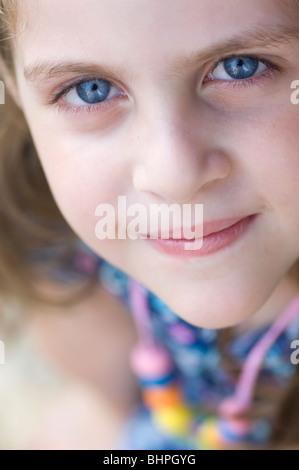 Cute little girl with blue eyes - Stock Photo