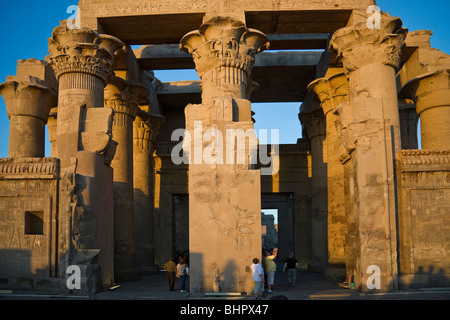 The double entrance to Kom Ombo Temple. - Stock Photo