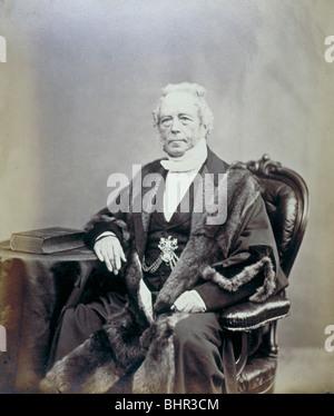 Sir James Duke, Alderman of the City of London, 1868. Artist: Anon - Stock Photo