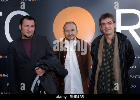 Toni Soler, Sergi Mas y Queco Novell attending to the protagonistas awards in Barcelona - Stock Photo