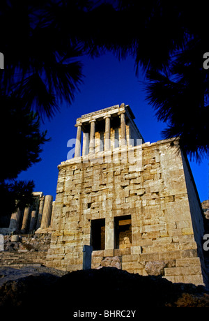 Temple of Athena Nike, Athena Nike, goddess of war, goddess of wisdom, Acropolis, city of Athens, Athens, Attica, - Stock Photo