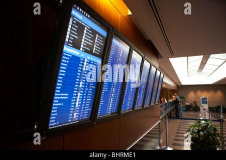 Flight Schedule Information Screens In The International