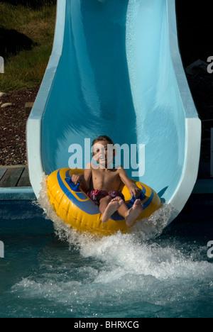 Water Slide Tube Splash Ride Thrill Excite Fun Teen Male