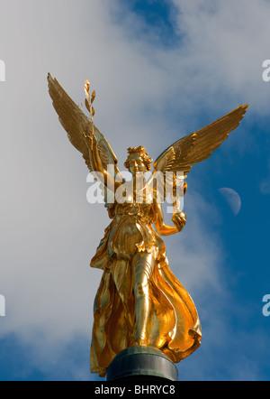 Friedensengel (Freedom Angel), Munich, Bavaria, Germany - Stock Photo