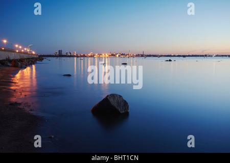 Estonia, Eastern Europe, Baltic States, Tallinn, City Skyline From Piirita - Stock Photo