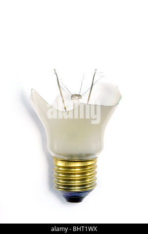 A broken light bulb - Stock Photo
