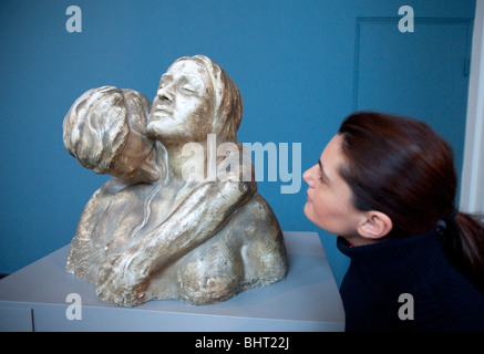 Instinct (The Kiss) by Kai Nielson on display at The Ny Carlsberg Glyptotek art museum in Copenhagen Denmark - Stock Photo