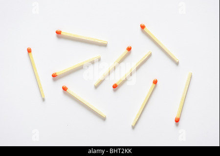 Scattered matches - Stock Photo