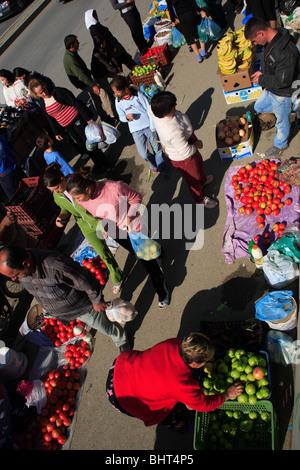 Market in Tirana, Albania - Stock Photo