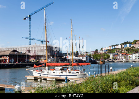 Construction work taking place on The Brunel Institute (Conservation and Learning Centre at the SS Great Britain), - Stock Photo