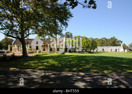 The winery and tasting room at the Vergenoegd Wine Estate Stellenbosch South Africa - Stock Photo