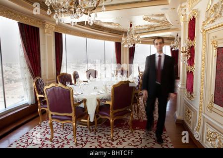le ciel jeddah revolving restaurant saudi arabia stock. Black Bedroom Furniture Sets. Home Design Ideas