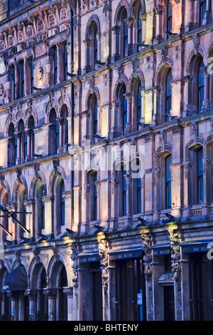 The Malmaison Hotel in Belfast, a an ornate, converted Victorian warehouse on the banks of the River Lagan, Northern - Stock Photo