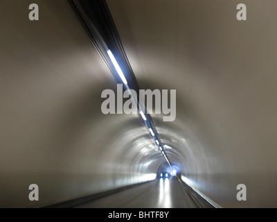 Street Tunnel, Malbun Liechtenstein FL - Stock Photo