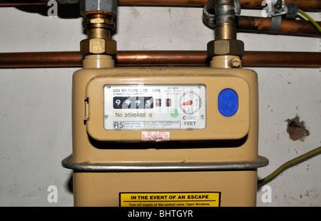 Gas meter. - Stock Photo