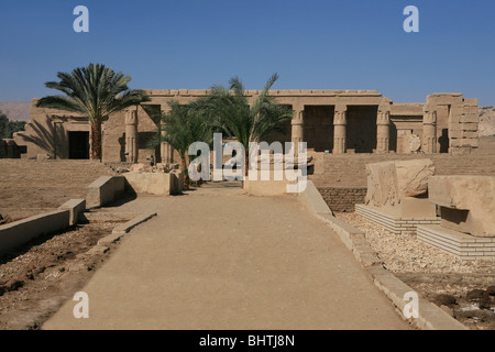 Mortuary temple of Seti I at the Theban Necropolis near Luxor, Egypt - Stock Photo