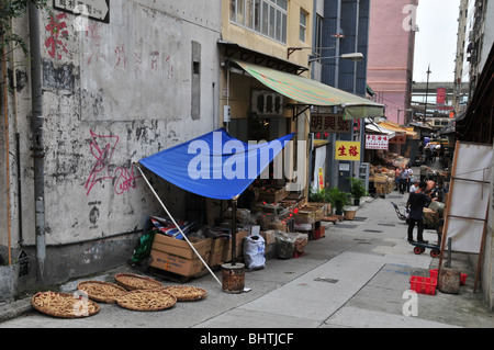 Men selling fish and vegetables in early morning on a for Apartments with shops below